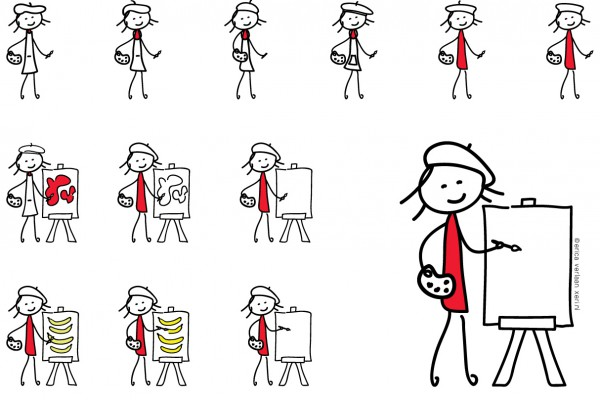 visual | beeld | tekening | ontwikkelingskaart | illustratie door Erica Verlaan