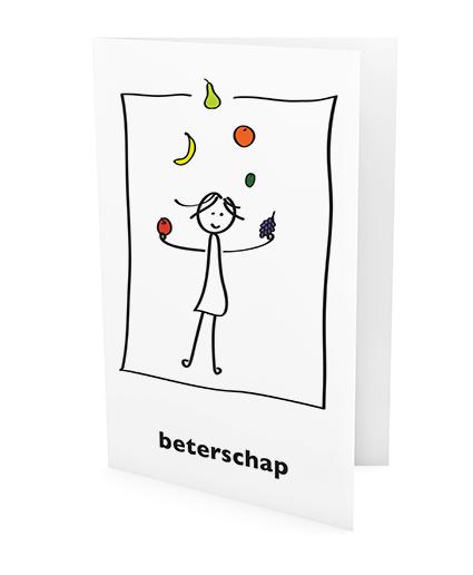 xeri illustraties | wenskaart | beterschap
