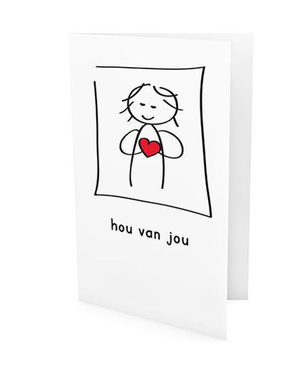 xeri illustraties | wenskaart | hou van jou