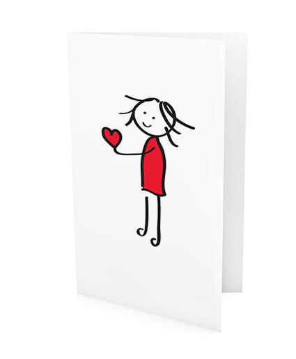 xeri illustraties | wenskaart | hou van jou | van harte gefeliciteerd