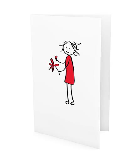 xeri illustraties | wenskaart | ik hou wel niet van jou