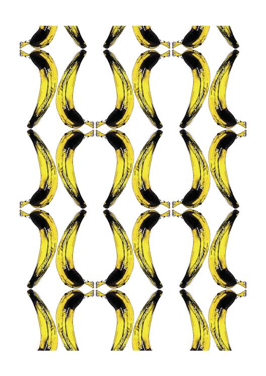 dessin patroon banaan door Erica Verlaan