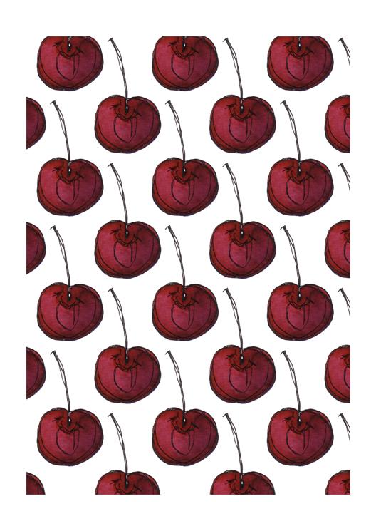 dessin patroon kers door Erica Verlaan