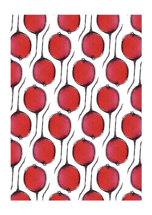 dessin patroon radijs door Erica Verlaan