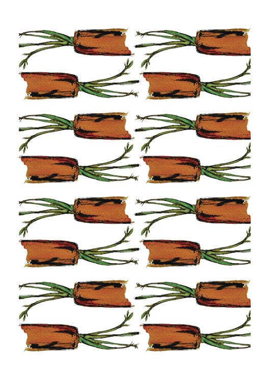 dessin patroon wortel door Erica Verlaan