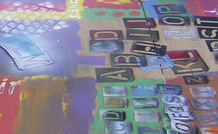 Graffiti workshop voor 6-8 kinderen maak een uniek kleurrijk schilderij