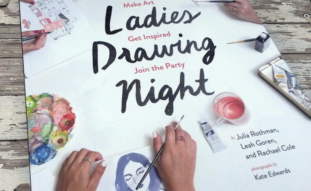 Ontspannen samen tekenen geïnspireerd op het boek Ladies Drawing Night begeleidt door Erica Verlaan bij de Hooiberg Leersum